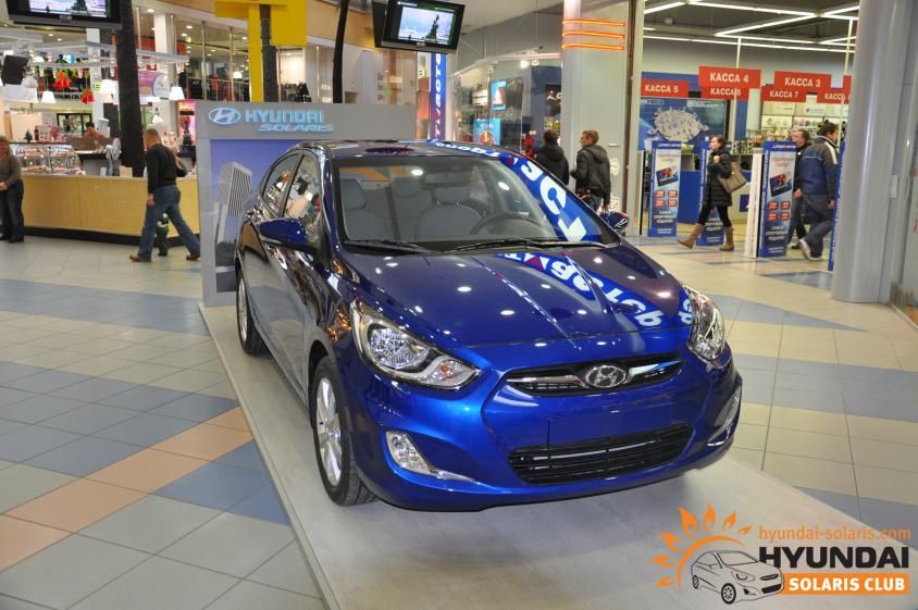 Hyundai Solaris, синий перламутр (WGM) - Hyundai Solaris клуб