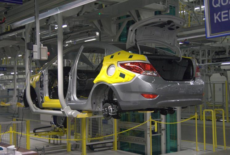 Хендай Солярис на конвейере завода - Фотогалерея клуба Hyundai Solaris.