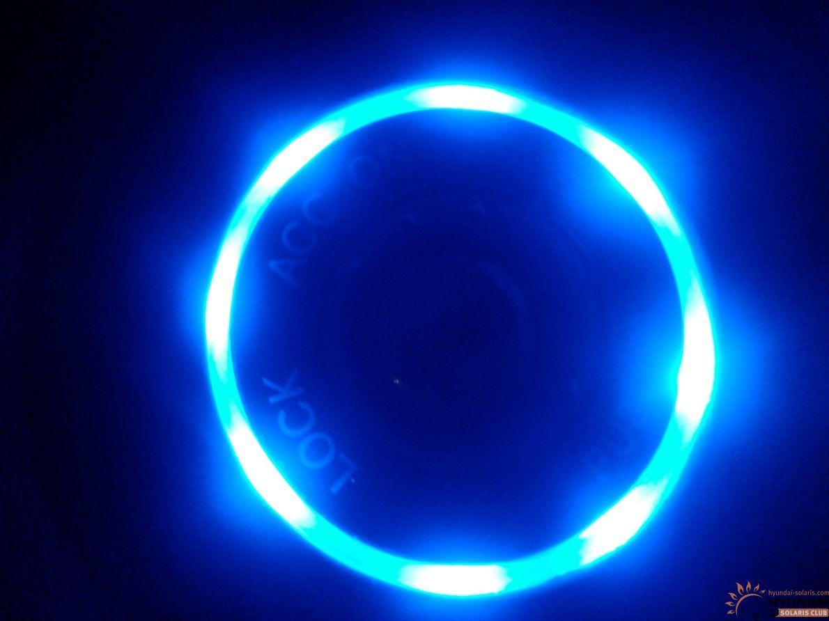 Подсветка замка зажигания своими руками солярис 93